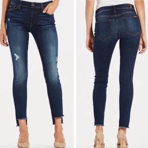 7 for all mankind ankle fray distressed step hem
